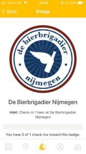 Untappd Badge Bierbrigadier Nijmegen